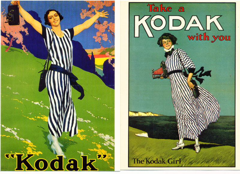 Al's Kodak Girls Postcards and Old Snapshots of women using